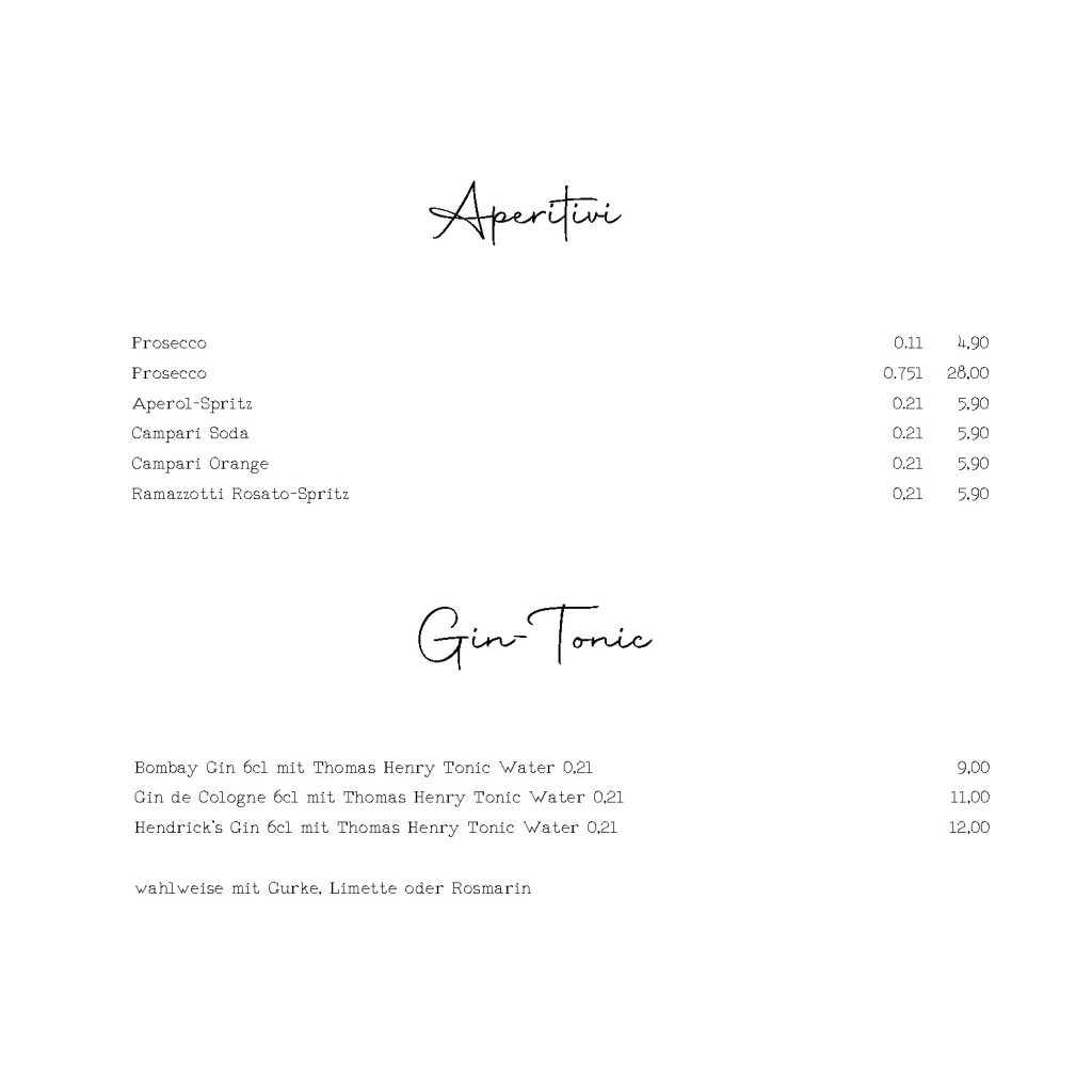 Aperitivi & Gin Tonic